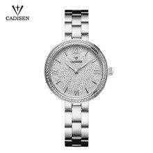 CADISEN Women Watches Top Brand Luxury Silver Steel Quartz Watch Waterproof 30M Female Clock Relogio Feminino Montre Femme
