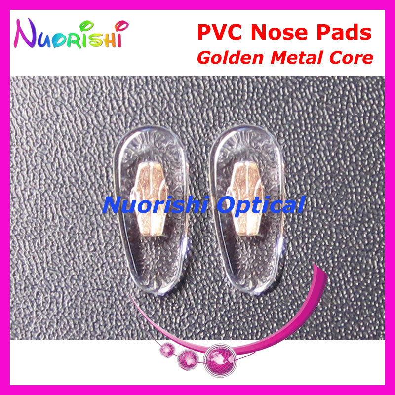 PV88 16mm Eyeglass Glasses PVC Nose Pads With Gold Or Silver Color Metal Core Eyewear Accessories Free Shipping