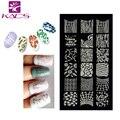 Sistema de desarrollo de CONOCIMIENTOS CA20 Moda DIY Polaco Belleza Nail Art Imagen Placas Estampación Sello Sello Del Clavo 3D Nail Art Plantillas Plantillas