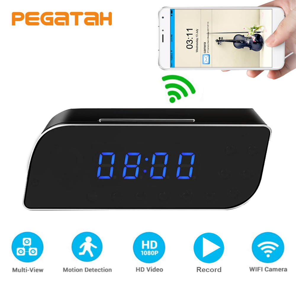1080P Wifi Security Camera Alarm Push Remote Control Night Vision Motion Detection Nanny Wireless IP Camera 1080p mini camera hd wifi clock camera time alarm p2p nanny motion detection night vision remote monitor wireless ip micro cam