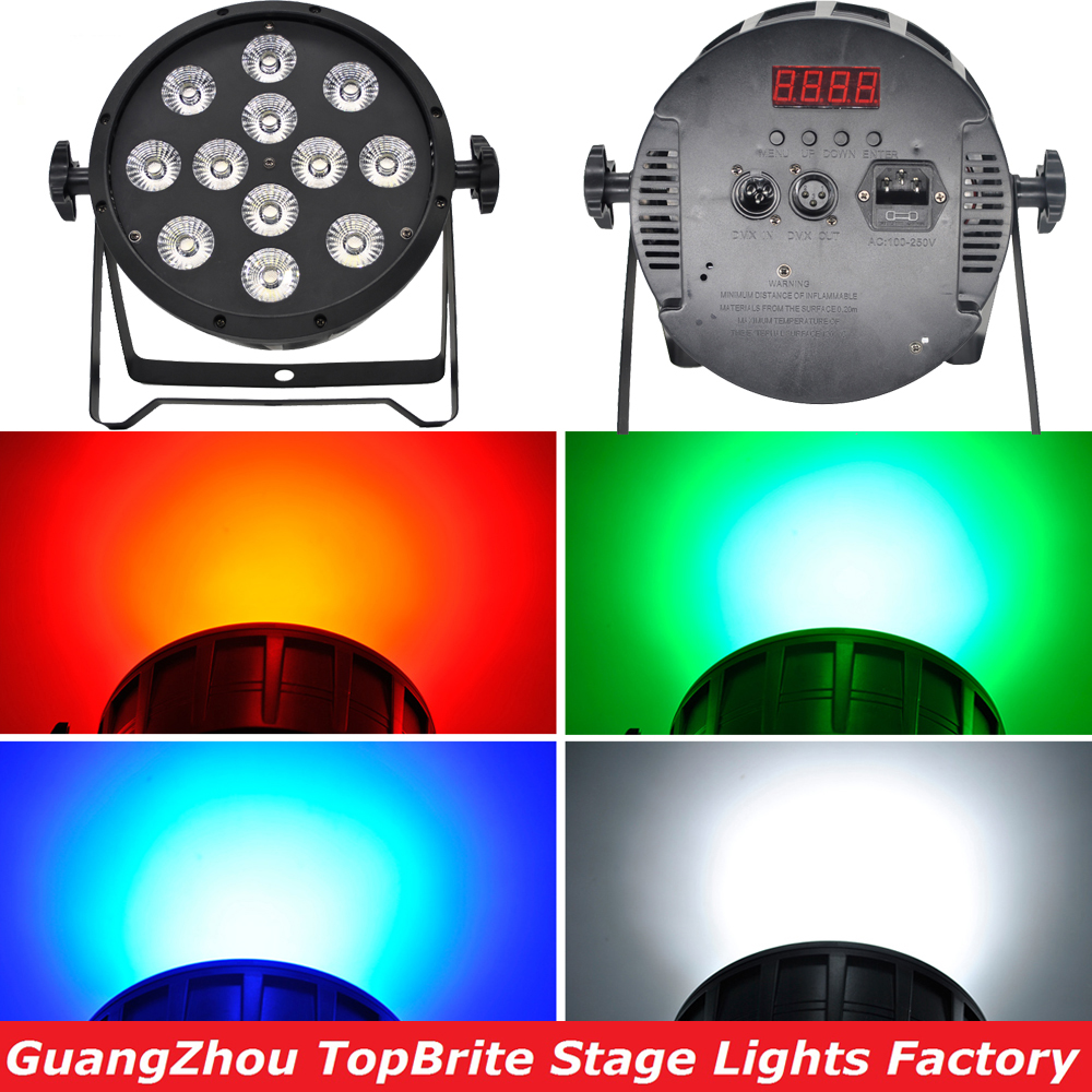 Free Shipping High Quality 12x10W 4in1 RGBW Led Par Party Star Show Stage Lights With DMX512 Dj Disco Light Sound Equipments