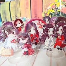 цены на 9cm Anime Tian Guan Ci Fu key chain Xie Lian Hua Cheng Cute Acrylic Standing Plate Model Home Decor  в интернет-магазинах