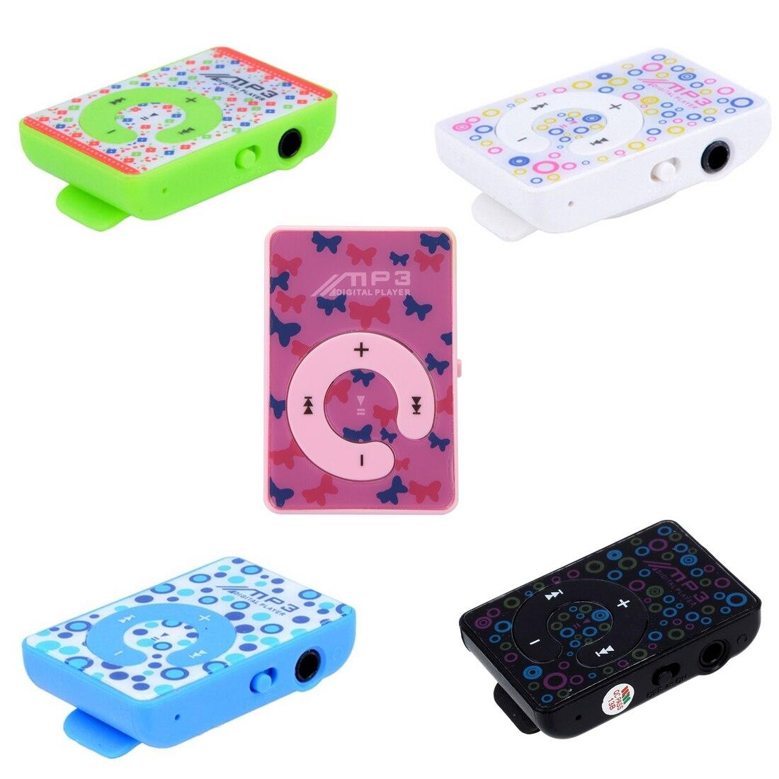 Gehemmt rosa/grün /weiß/blau/schwarz Usb Kabel Unsicher Kopfhörer Verlegen Maha Mini Clip Mp3 Musik Player Sd Karte Unterstützt 3,5mm Hochwertige Materialien Befangen Selbstbewusst