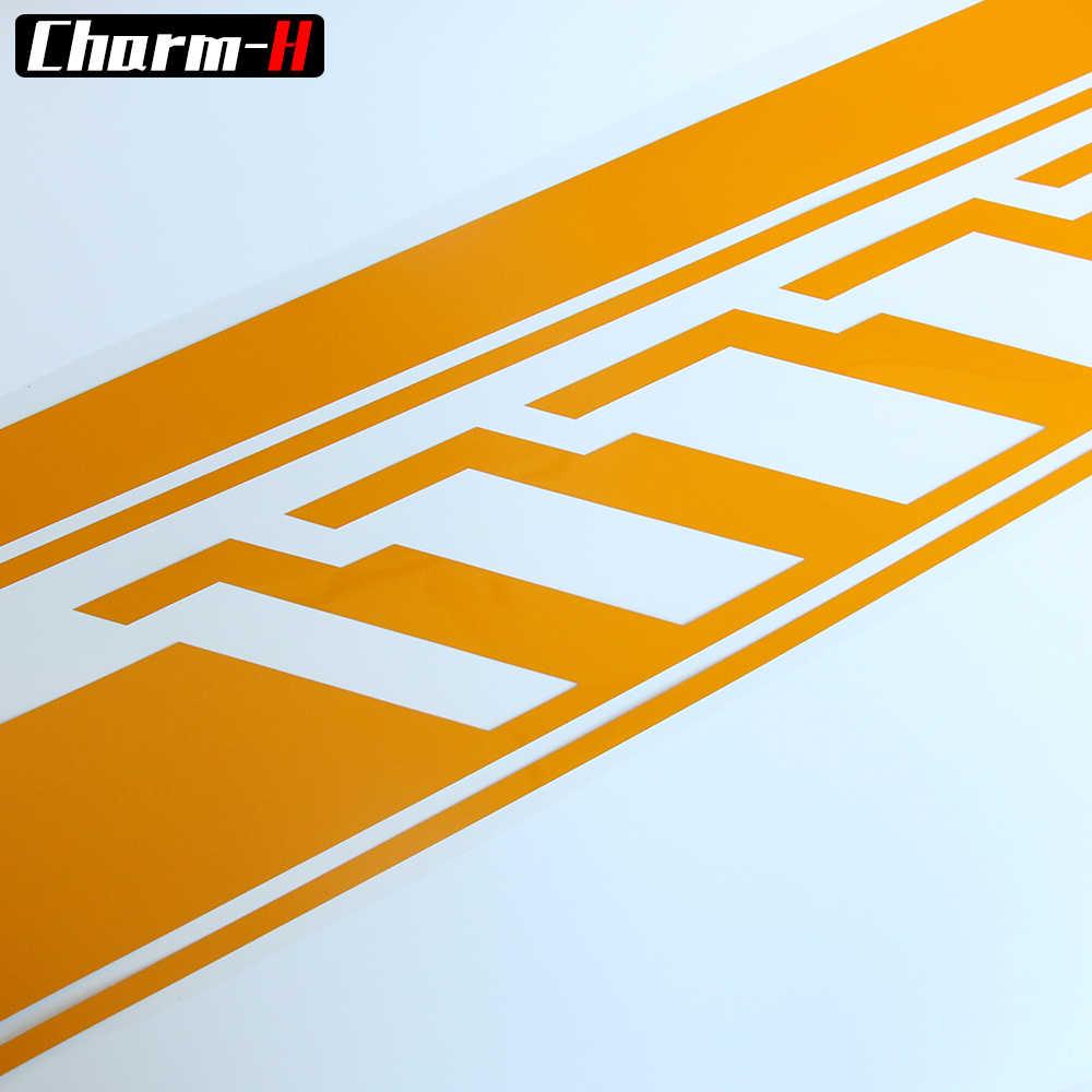 Edición de estilo del coche 1 Juego de rayas laterales de la cubierta del techo de la etiqueta trasera para Mercedes Benz Clase C W205 Coupe Sedan C200 c300 AMG pegatinas