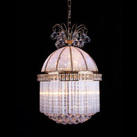 Mini Hanging Lamp Luxury Suspension Lamp Crystal Cage Pendant Light Lamp