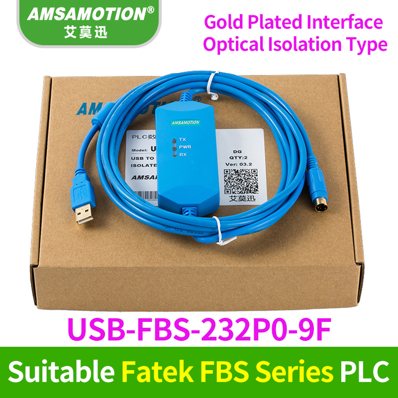 Suitable FATEK FBS series PLC Programming Cable Communication Data download line USB-FBS-232P0-9F+ new and original fbs cb2 fbs cb5 fatek communication board