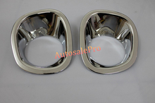 ABS Chrome Front and Rear Fog Light Lamp Cover Trim For Nissan X Trail X Trail