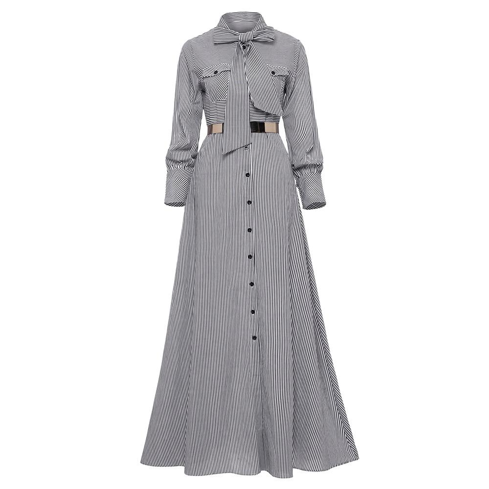 Young17 Women Fall Long Dress Black Party Elegant Clothes Ladies Maxi Long Sleeve Office Vestido 2018 Autumn Winter Shirt Dress
