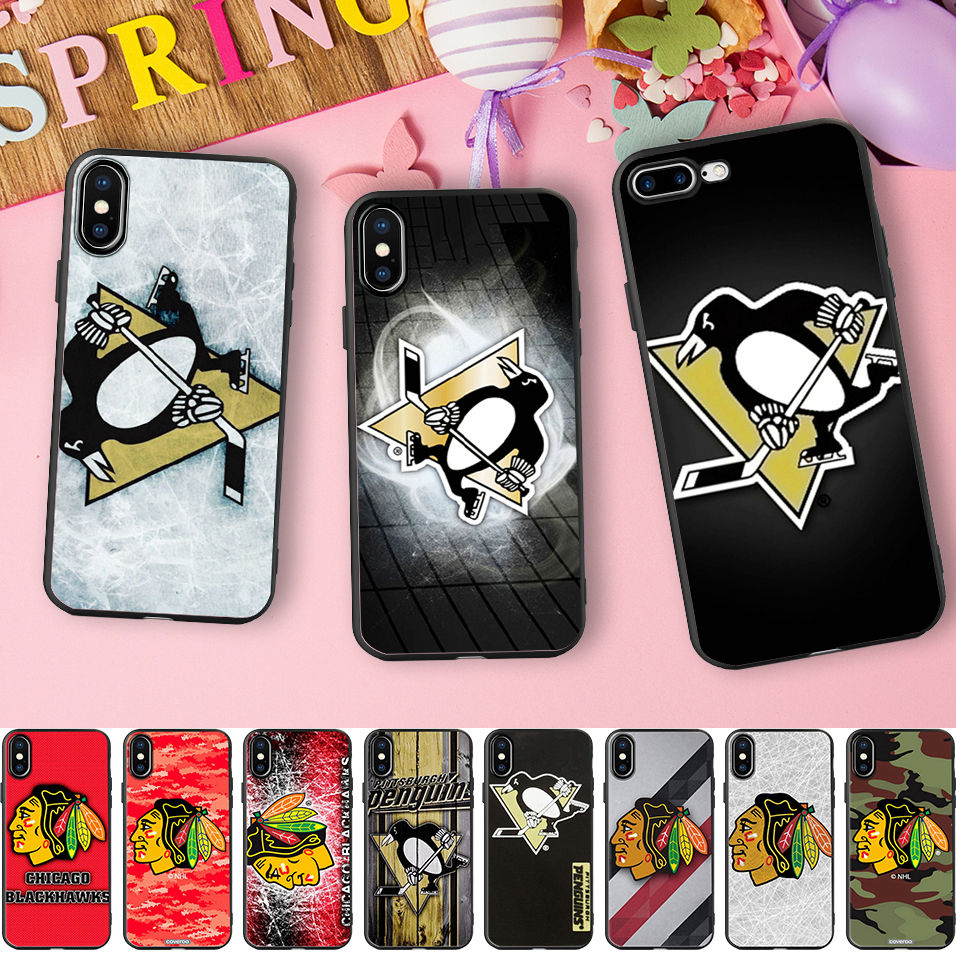 Minason Penguins NHL Ice Hockey Sports Soft Silicone Fitted Phone Case Cover for iPhone 10 X 5 S 5S SE 6 6S 7 8 Plus 7plus 8plus ...