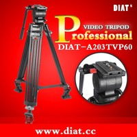 DIAT A203TVP Professional Aluminum Portable Video Tripod with Hydraulic Head Digital DSLR Camera Stand tripod miliboo manfrotto