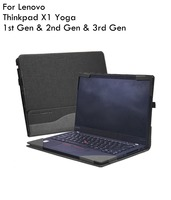 Case For Lenovo Thinkpad X1 Yoga 14 inch 1st Gen & 2nd Gen & 3rd Gen Laptop(Not Fit 4th Gen) PU Leather Folio Stand Hard Case