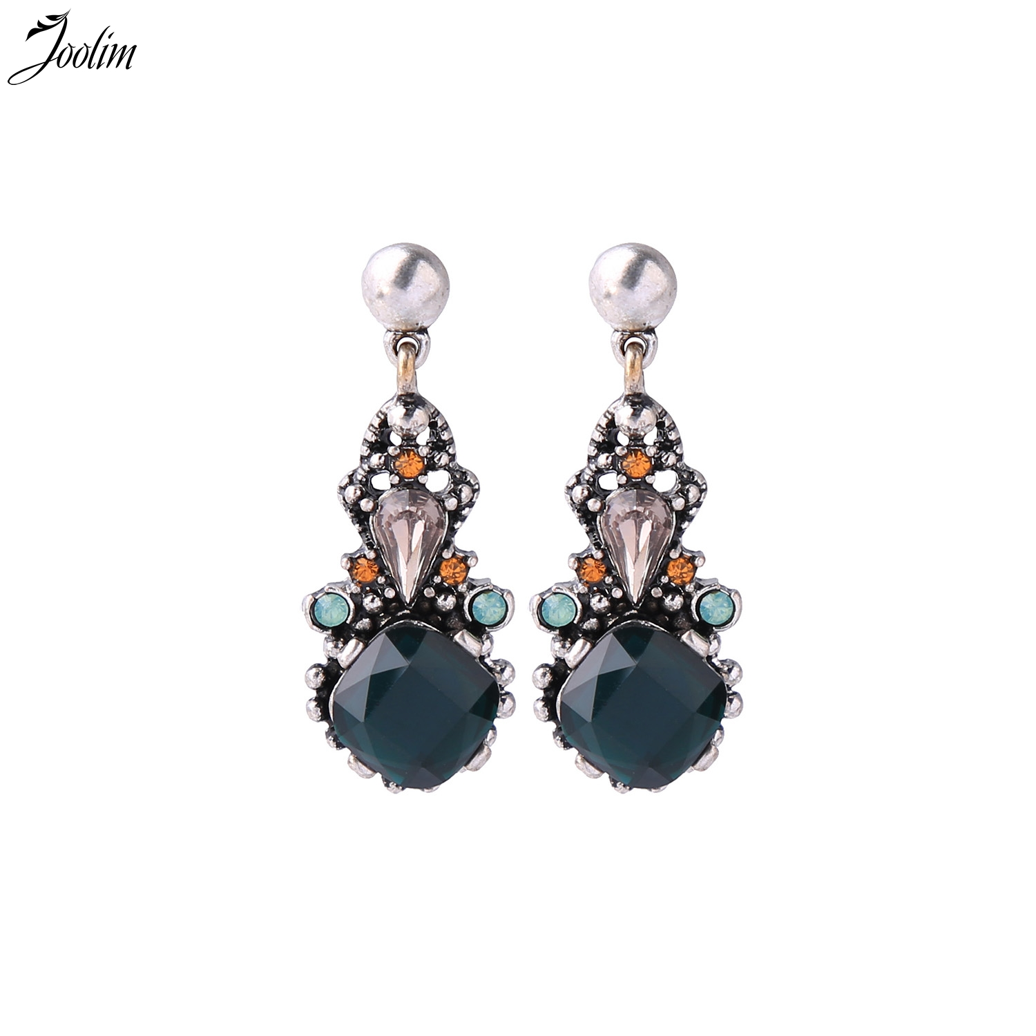 JOOLIM Jewelry Wholesale Long Floral Earring Simulated Pearl Indian