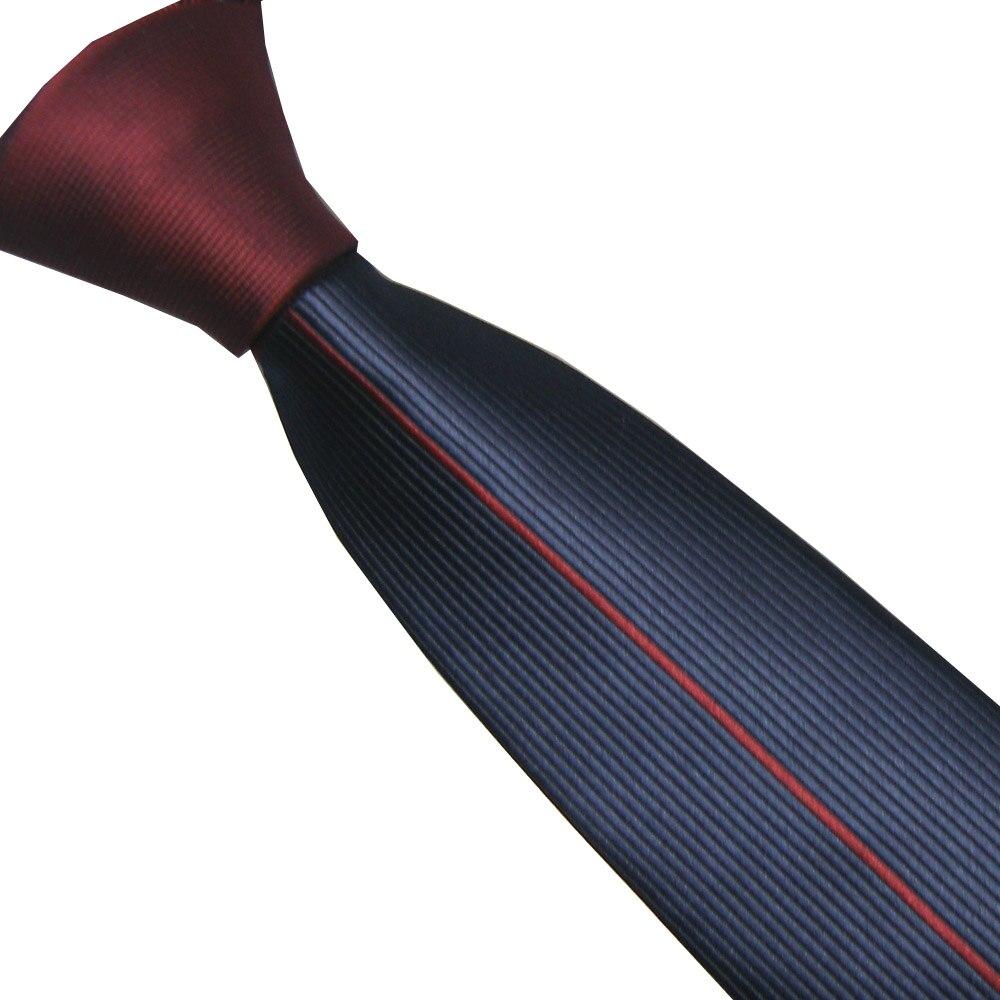 Symbol Der Marke Lammulin Herrenanzug Krawatten Burgundy Red Knoten-kontrast Blaue Mit Burgundy Red Vertikale Gestreifte Krawatte Mikrofaser Dünne Krawatte 6 Cm Lange Lebensdauer Bekleidung Zubehör