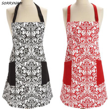 1 Pcs/set Brief Style Kitchen Aprons Woman Cotton Cooking Apron Woman Aprons  Household Items