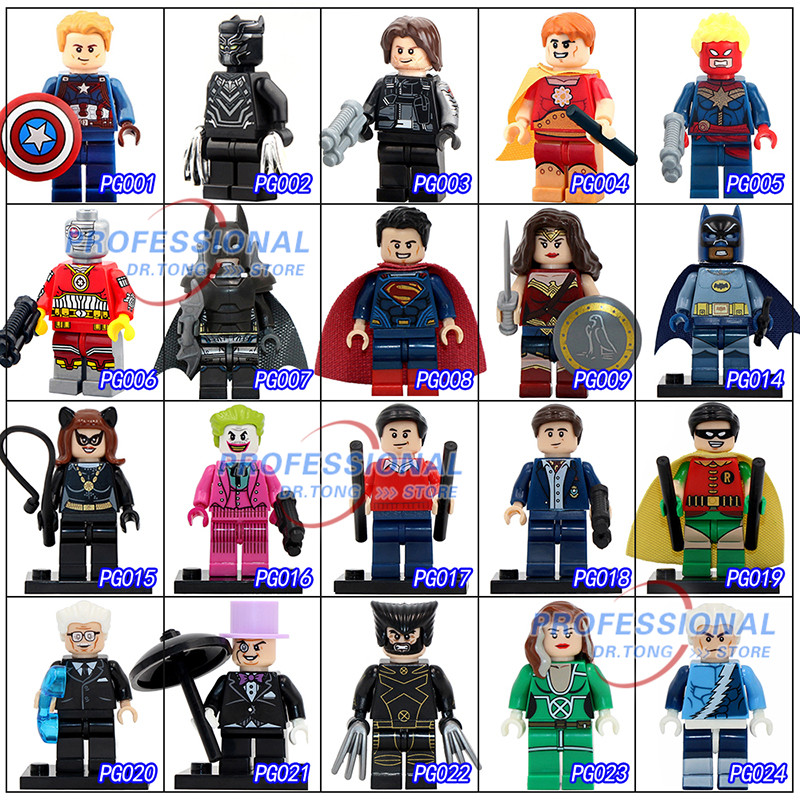2017 New Classics Figures Series 1 POGO Super Heroes Building Block Toys Death Shooter Batman Captain America Panther new lp2k series contactor lp2k06015 lp2k06015md lp2 k06015md 220v dc