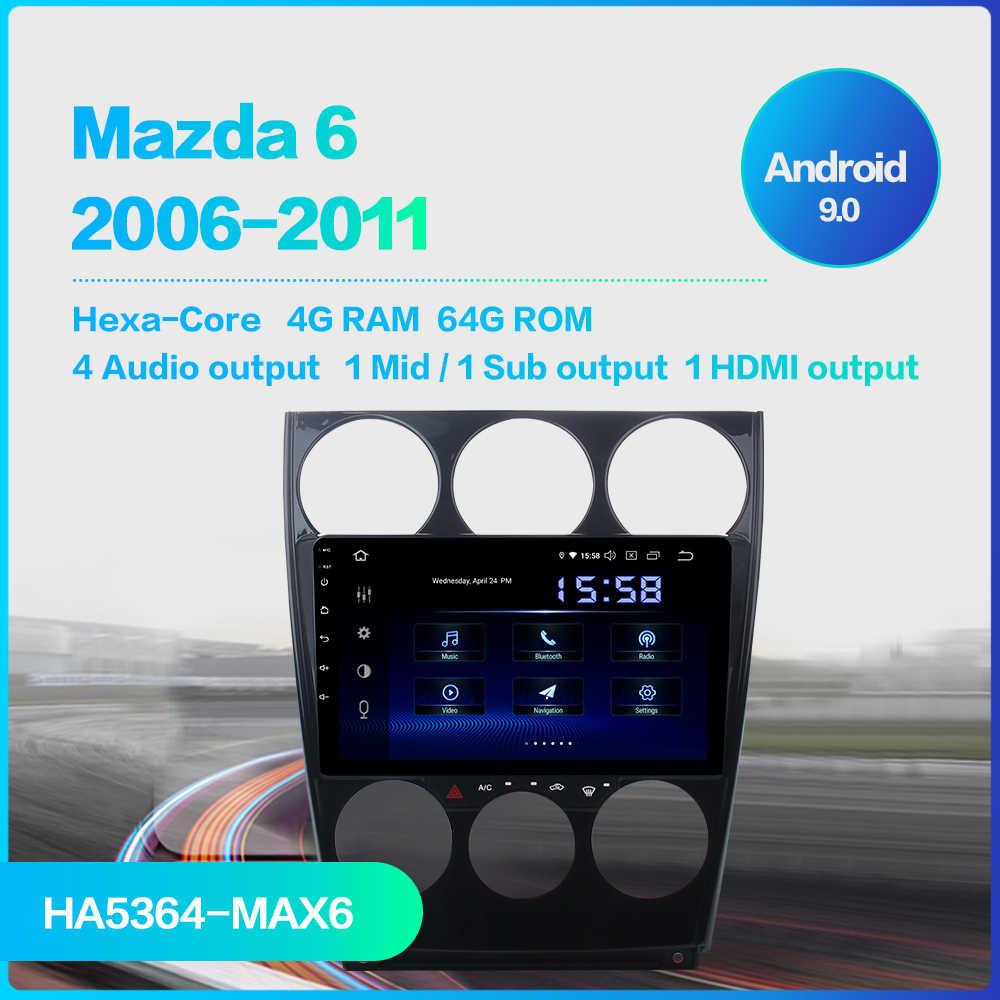 "Fongent 9 ""IPS Autoradio ستيريو سيارة أندرويد 9.0 لمازدا 6 2006 2007 2008 2009 2010 2011 2012 نظام الملاحة USB TDA7850 DSP"