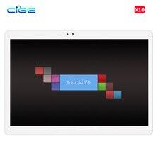 Бесплатная доставка Ultra Slim Дизайн 10 core tablet pc Встроенная память 64 ГБ/128 ГБ Оперативная память 4 ГБ 4 г LTE Две сим-карты, Android 7.0 IPS таблетки телефон