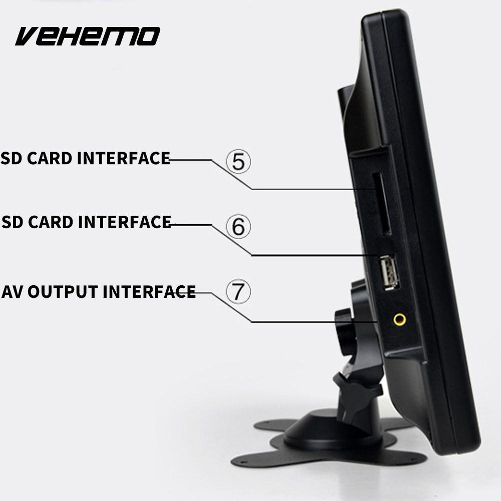 Vehemo NTSC 9 pouces TV moniteur de voiture moniteur de voiture TV Portable USB/SD carte Slot 800*480