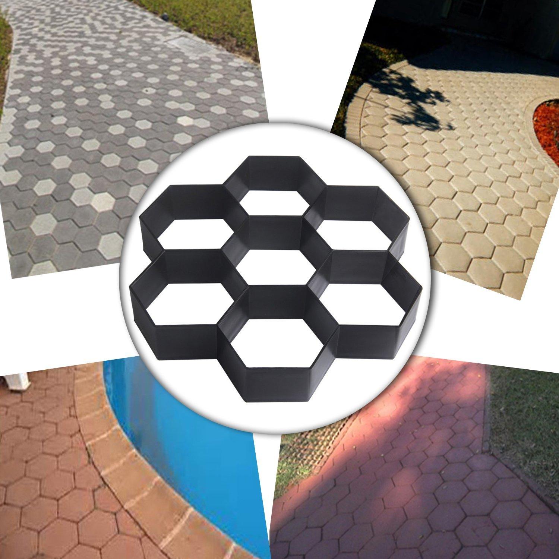Moldes de concreto do jardim pavimentação tijolo
