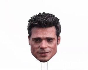 Image 1 - Niestandardowe 1/6 skala Brad Pitt szef Sculpt z okulary papieros dla 12 cal action figure zabawki bitwa wersja zwykle wersja
