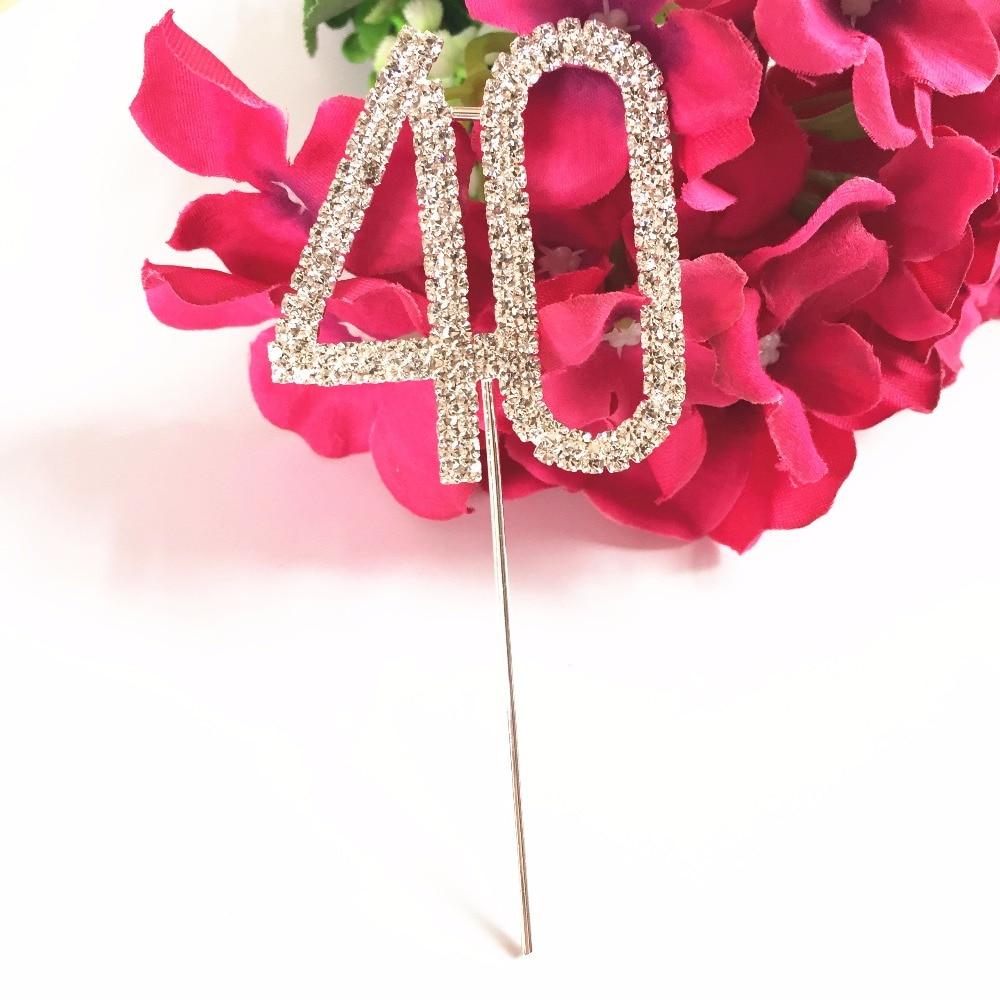 Happy 40th Birthday marriage Anniversary party decoration kits 5 cm ...