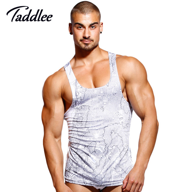 28ab678c4a8e78 Taddlee Brand Men s Tank Top T shirts polyester Sleeveless Undershirts  Fitness Stringers Singlets Muscle Bodybuilding 3D