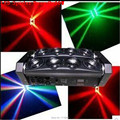 2pcs/lot Fast Shiping New Moving Head Led Spider Light 8x10W RGBW Led Party Light DJ Lighting Beam Moving Head Light