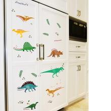 SK7071 Cartoon Jurassic Park Cute Dinosaurs Wall Stickers For Kids Boys Rooms Nursery Art Mural Home Decor Animal Wallpaper