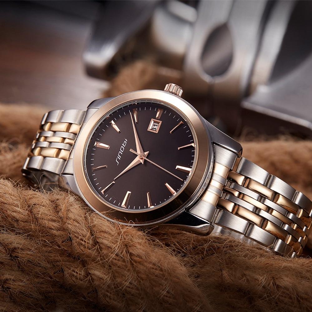 Sinobi Relogio Masculino Luxury Brand Business Analog Display Date Men  Quartz Watch Business Watch Men Wristwatch Couple Watch