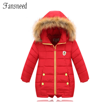 2016 winter new children s clothing girls cotton padded clothes down jacket lengthened thick coat