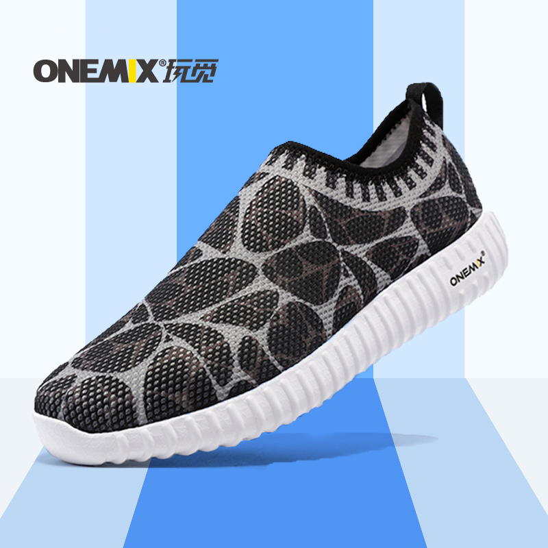 ФОТО ONEMIX 2016 Autumn Outdoor Walking Shoes Unisex Athletic Shoes Breathable Mesh Men Running Shoes  Women Sport Sneakers
