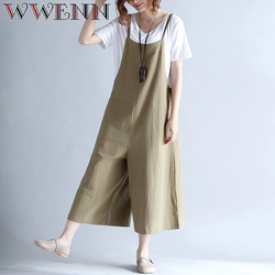 womens jumpsuit 2017 summer overalls women sexy round neck piece long pants linen cotton jumpsuits.jpg 250x250
