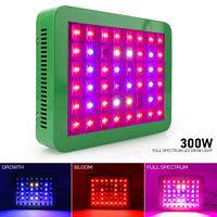 300W LED Grow Light Reflector Cup Full Spectrum Growth Bloom Plant Lamp for Flowers Vegs Greenhouse Tent Hydroponics Lights
