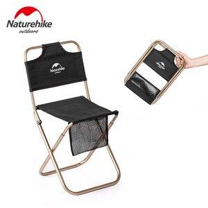 Image 1 - Сверхлегкий складной мини стул Naturehike, портативное уличное кресло для рыбалки на луну, кемпинга, пеших прогулок, стул для барбекю, расширенный