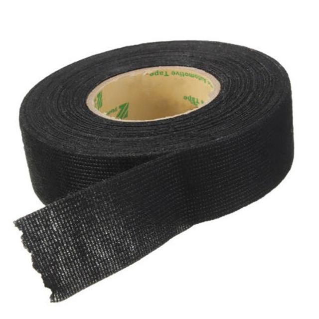 vehemo 19mmx15m car auto wiring harness flannel adhesive felt tape 2017 new black cloth fabric tape high quality car styling in fillers, adhesives \u0026 Black Cloth Fabric