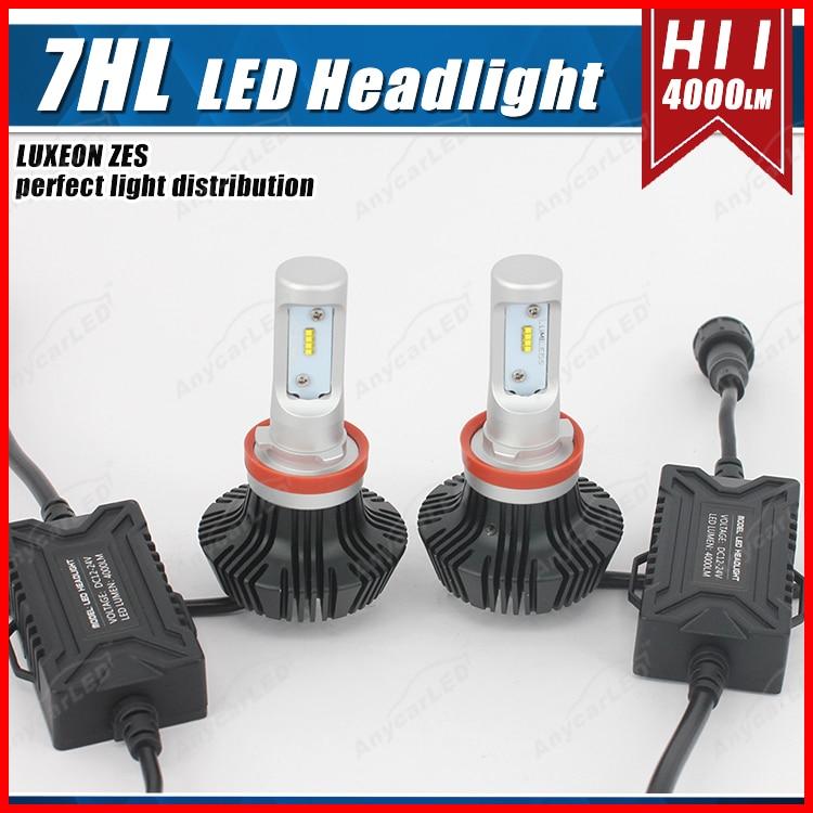 1 set H8 H9 H11 H16 (JP) 50W 8000LM G7 LED-strålkastare - Bilbelysning - Foto 4