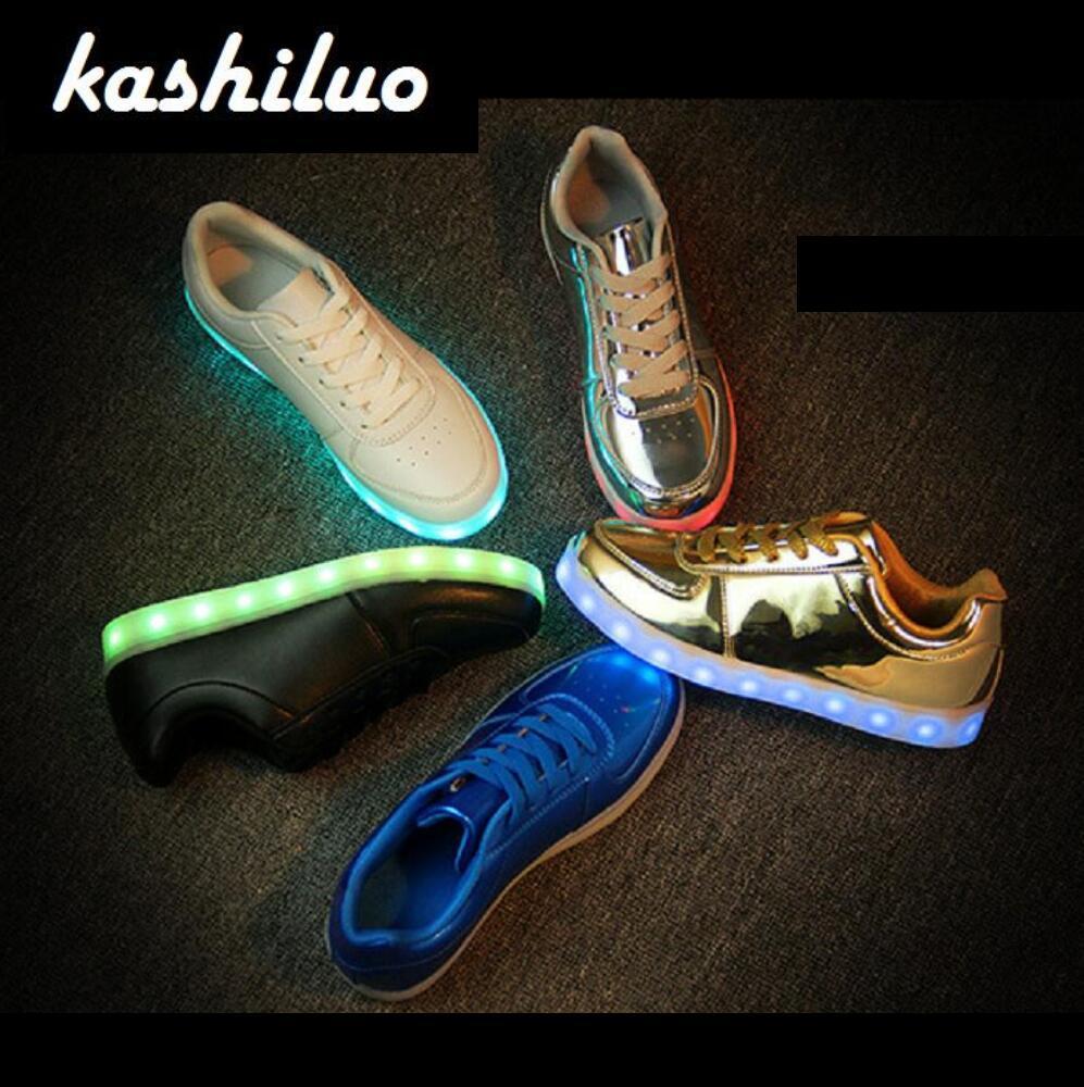 EUR 31-46 zapatillas USB carga Led zapatos de los niños niño chica hombre mujer brillante tenis niños iluminar zapatos