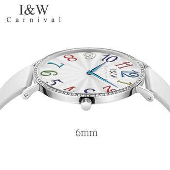 2019 neue IW Modus Trendy Damen Uhr Farbe Digitale Kunst Hochschule Wind Student Uhr Weibliche Quarzuhr Wasserdicht Ultra-dünne