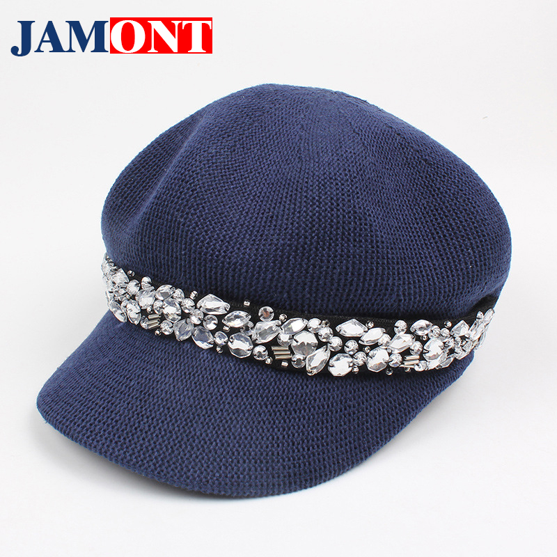 Spring Summer Accessories Female Hat Octagonal   Caps   Breathable Sun Hats For Girls Fashion Women's Hat   Baseball     Cap   Snapback