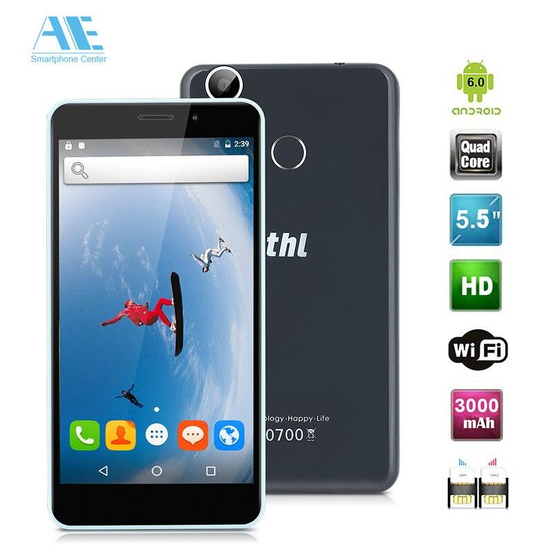 Цена за Оригинал THL T9 Pro 5.5 inch MT6737 Quad Core Android 6.0 Мобильный Телефон Отпечатков Пальцев 2 ГБ RAM 16 ГБ ROM Смартфон 4 Г LTE 3000 мАч