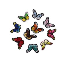 10PCs Mixed Patches For Clothing Iron On Embroidered patchAppliques DIY Apparel Accessories Patches Multicolor Butterfly patches