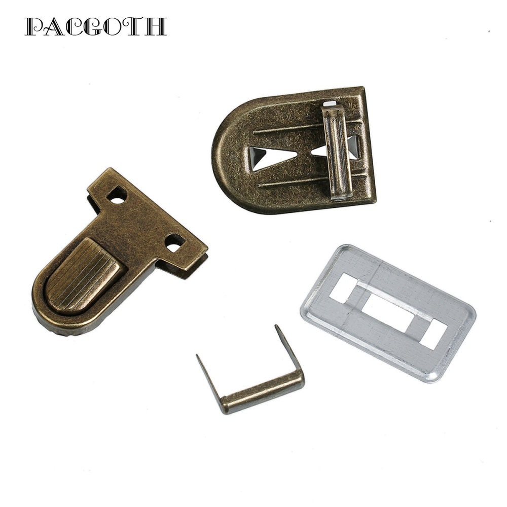 PACGOTH Iron Based Alloy Purse Handbag Lock Clasps Closure Antique Bronze 35mm(1 3/8