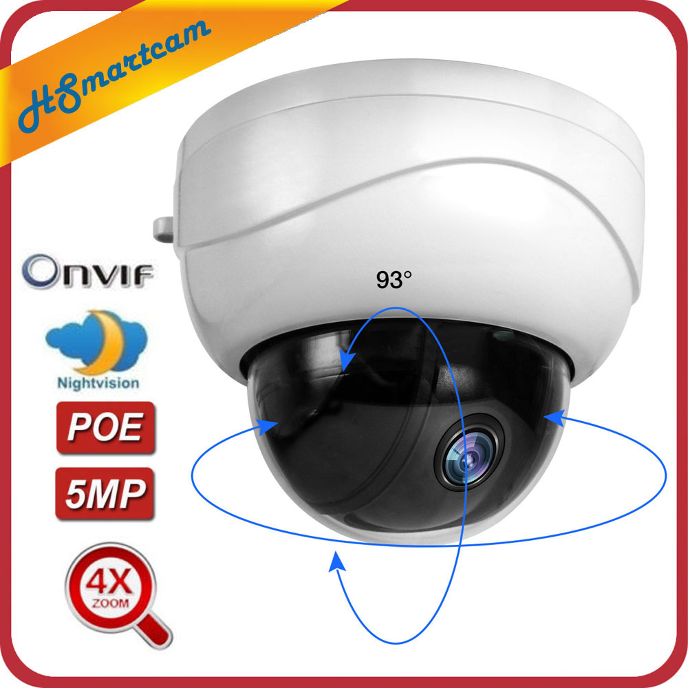 5MP POE PTZ Dome 4X Optical Zoom 2MP IP Camera Network CCTV 1080P IR Night Security RJ45 Mini HD Cameras For HK XMeye ONVIF NVR5MP POE PTZ Dome 4X Optical Zoom 2MP IP Camera Network CCTV 1080P IR Night Security RJ45 Mini HD Cameras For HK XMeye ONVIF NVR