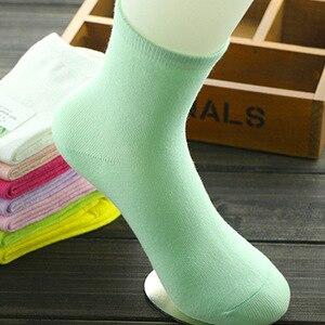 Image 5 - Dilanyifu chaussettes en coton pour femme, 10 paires/lot, chaussettes amusantes, haute qualité, bambou massif, décontracté équipage, multi femme, taille 35 41