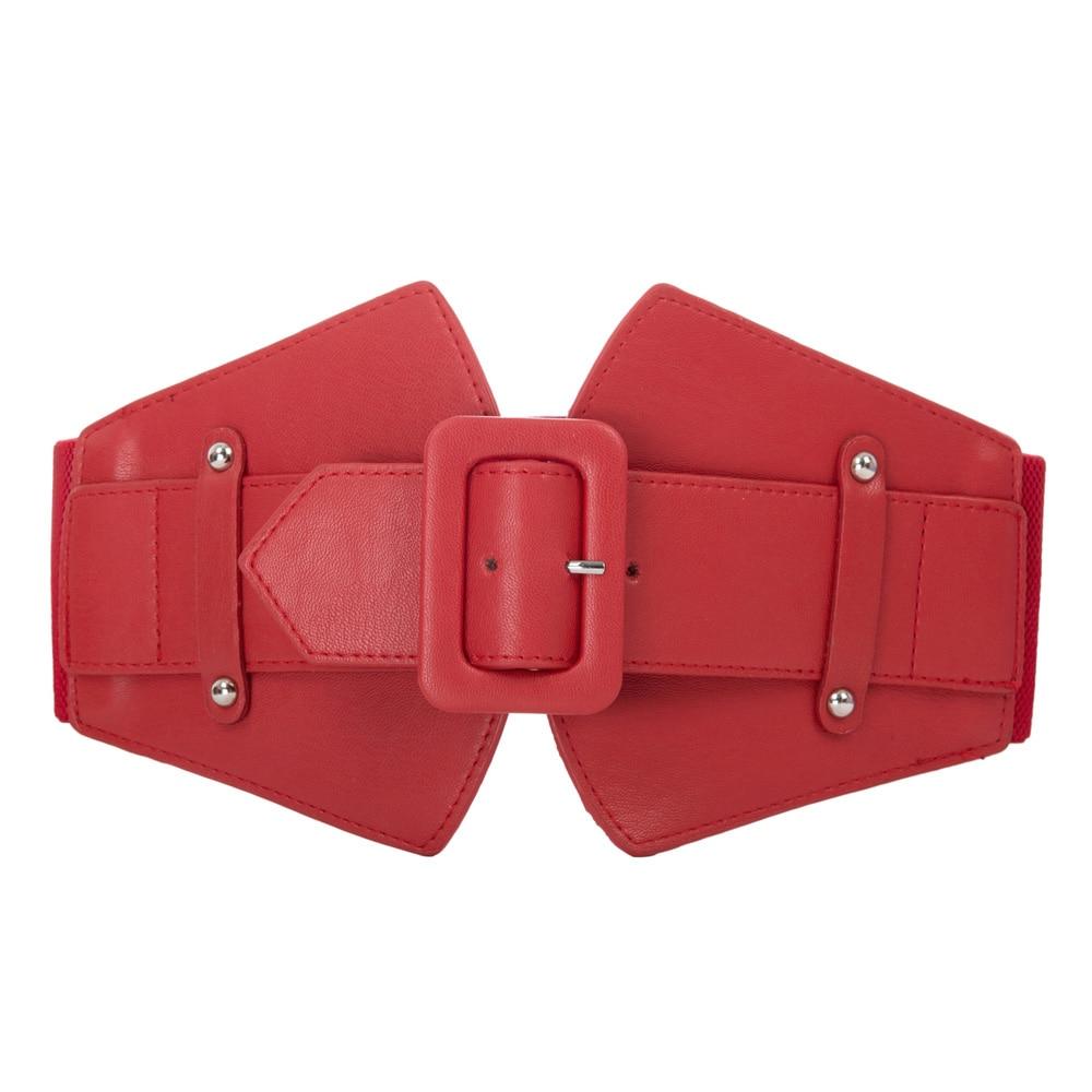 Ladies waist   belts   womens 2018 Fashion Black Red solid Stretch Elastic Wide   Belt   female Dress Adornment For women Waistband