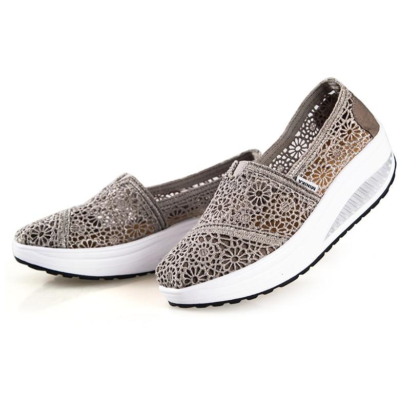 Prix pour 2016 NEW Summer Femmes Marchant Shoes Respirant Shoes Femmes Mocassin Femme Classique Style Sapatenis Zapatos Sperry