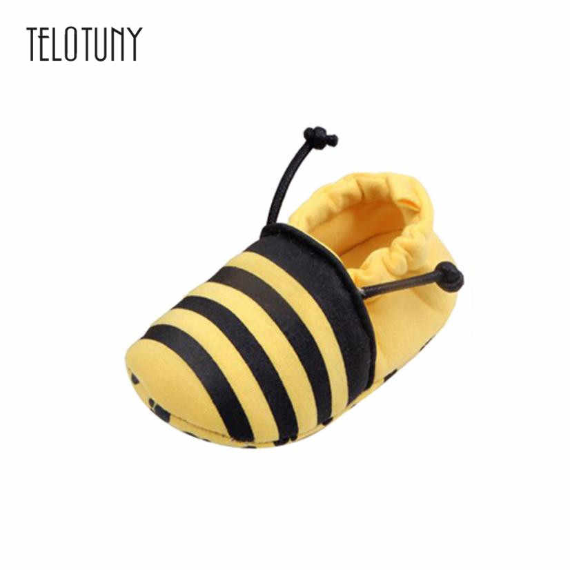 TELOTUNY Lovely Toddler First Walkers Baby Shoes Round Toe Flats Soft Slippers Shoes Anti-slip Crib Shoes winter daily S3FEB16