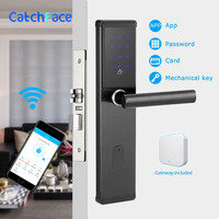 Electronic Door Lock,Smart Bluetooth Digital APP Wifi Keypad Code Keyless Door Lock,Password Keyless Door Lock