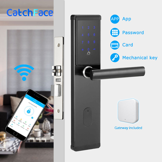 電子ドアロック、スマート Bluetooth デジタルアプリ Wifi キーパッドコードキーレスドアロック、パスワードキーレスドアロック