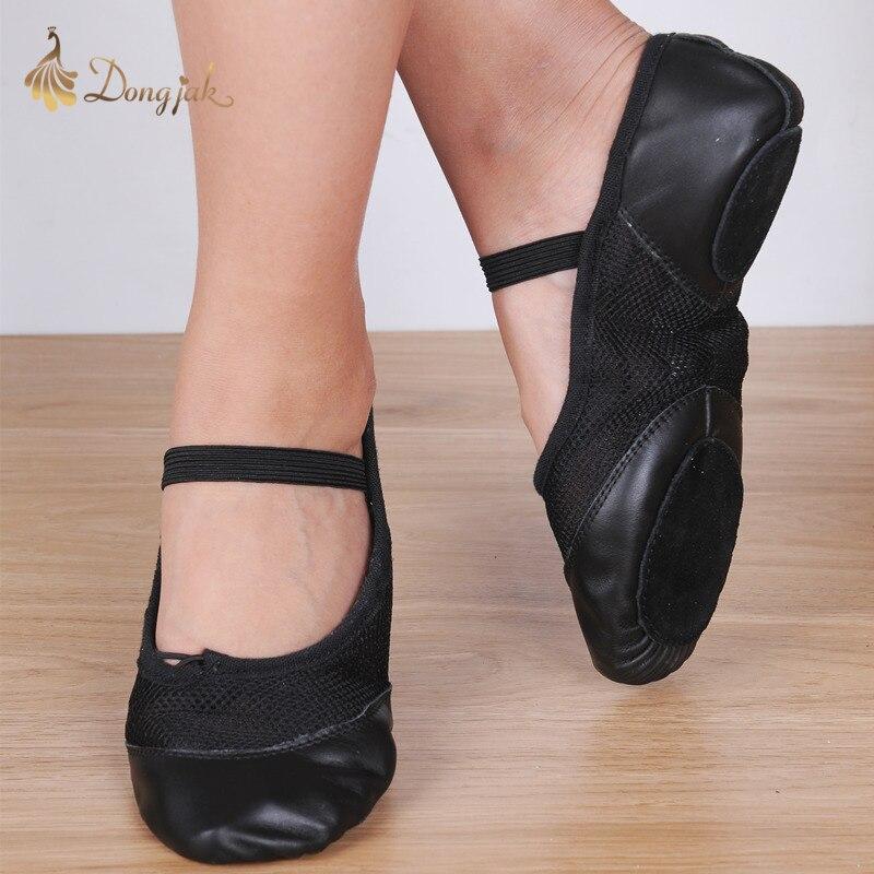 Volnerfleer Professionele Balletschoenen Slippers Vrouwen Echt leer Zapatillas Ballet Volledige Split Zool Ballet Dansschoen